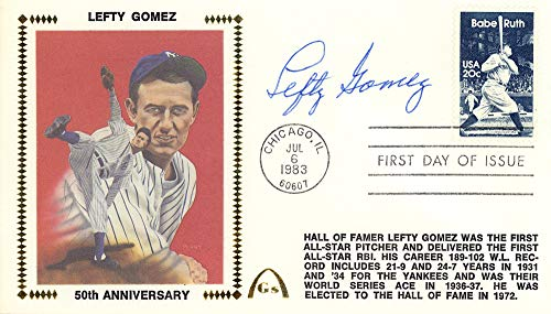 - Lefty Gomez Autographed First Day Cover New York Yankees Beckett BAS #E48832