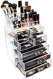 Sorbus Acrylic Cosmetics Makeup and Jewelry Storage Case Display Set (Set Style 1)