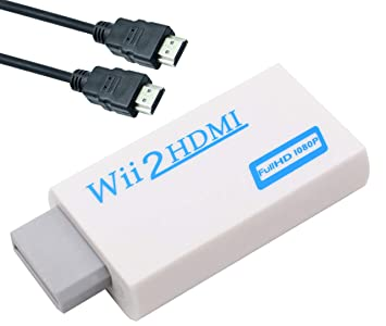 Amazon.com: Wii a HDMI convertidor adaptador con 3 ft Cable ...