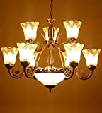 SFL Antique Chandelier With 9 Portuguese Style Lamps And 1 Glass ...