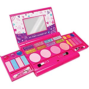 My First Makeup Set, Girls Makeup Kit, Fold Out Makeup Palette with Mirror and Secure Close - SAFETY TESTED- NON TOXIC