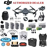 DJI Mavic Pro Drone Quadcopter Fly More Combo with 4 Batteries, 4K Professional Camera Gimbal Bundle Kit, 2-64GB SD Cards, Range Extender, Landing Pad, Must Have Accessories with Koozam HardCase