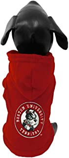 product image for All Star Dogs NCAA Boston University Terriers Cotton Hooded Dog Sweatshirt