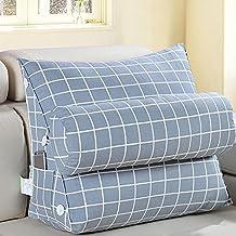 FLHSLY Back wedge Headrest Triangle Big backrest sofa bedside pillow Backrest lumbar support cushions reading pillows , 1 , 45*45*20cm
