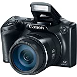 Canon SX530-CR 16.0 MP PowerShot CMOS Digital Camera with 50x Optical Image Stabilized Zoom (24-1200mm) and 3-Inch LCD HD 1080p Video, Renewed - Black