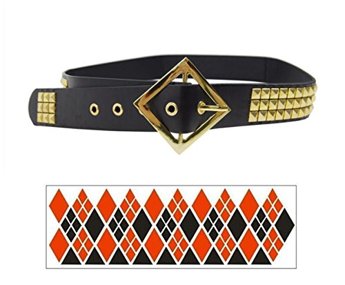 Affect Shop Cosplay Props Gun Choker Belt Bracelet Holster (Male Harley Quinn Costumes)