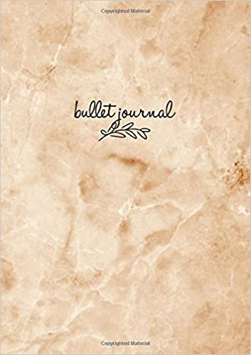 Amazon.com: Bullet Journal: Marble Brown Notizbuch A5 Dotted ...