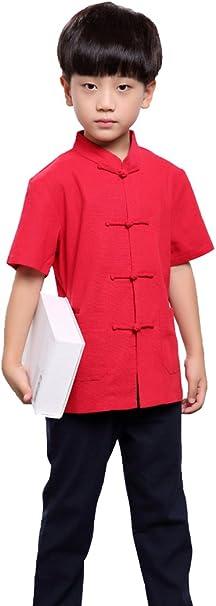 100% Hechas a Mano Niños Kung FU Tai Chi Artes Marciales Ropas Niños Camisas #102: Amazon.es: Ropa y accesorios