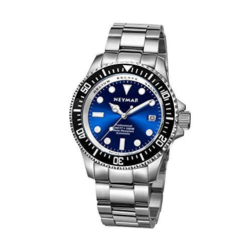 NEYMAR 44mm Men s 1000m Diver Japanese Automatic Sport Stainless Steel Watch