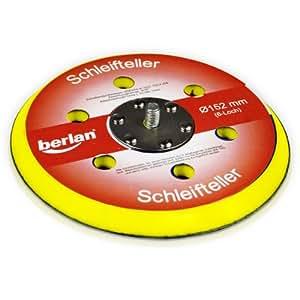 Berlan - Almohadilla de lijado con 6 agujeros (para lijadora excéntrica de aire comprimido), 150 mm
