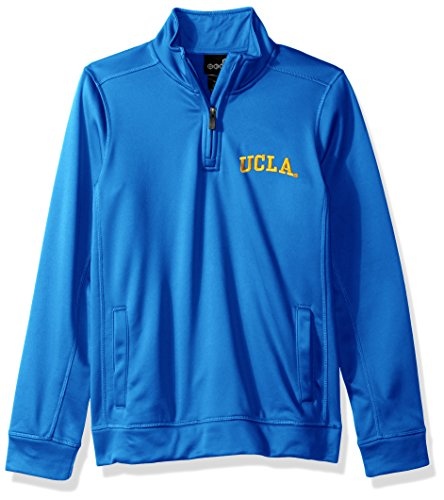"NCAA UCLA Bruins Youth Boys ""Trainer"" 1/4 Zip Jacket, Medium(10-12), Strong Blue"