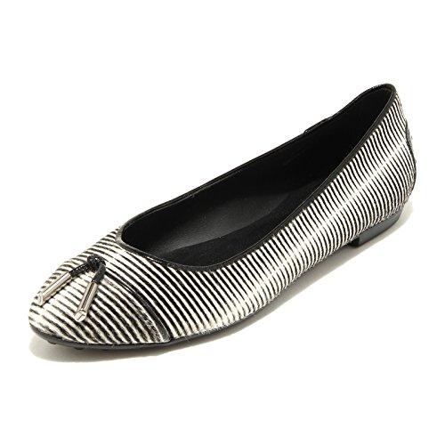 9184 ballerine donna TODS ballerina scarpe scarpa shoes women cavallino BIANCO/NERO