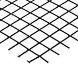 12150ME105-36X36 PVC Coated Galvanized Steel Welded Wire Mesh, 1-1/2'' Mesh Size, 7/64'' Wire Diameter, 36'' Width x 36'' Length, Black