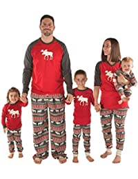 Matching Christmas Pajamas For The Family Moose Fair Isle | Women Men Boys Girls and Infant Sizes