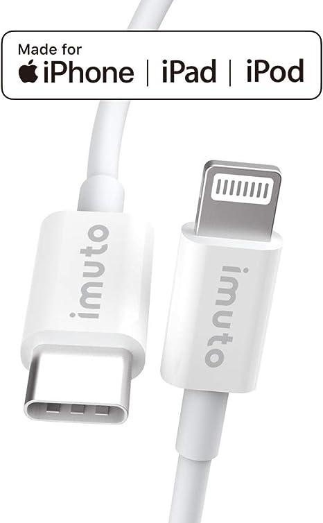 ESR Câble USB C vers USB Lightning [Certifié de MFi] 1m en