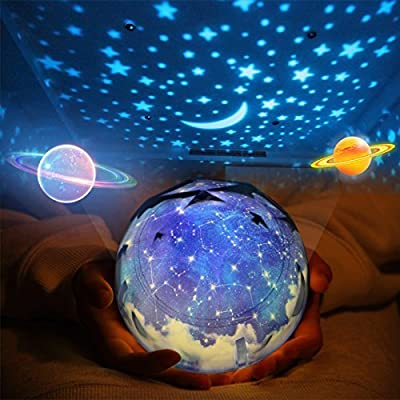 Star Night Light Lamp for Kids,Katosca Baby Bedside Universe Night Light Projection Lamp Cheerful Starry Sky Lamp for Children' Bedroom Kids Birthday Gift
