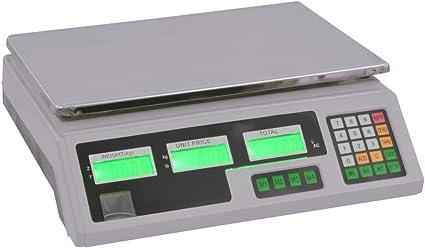 vidaXL Bilancia Digitale LCD 30 kg con Batteria Ricaricabile Piattaforma Peso