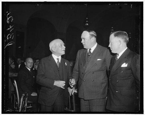Photo: Big business, Industrial-Labor conference, Edward A Filene, Earl H Walker, 1936 . Size: 8x10