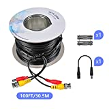 BNC Cable,Safevant 30M/100FT Video Power Cable for CCTV Camera DVR Security System