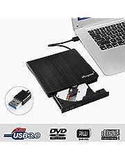 CD/DVD Recorder Portable External CD Player with USB 3.0, AGM súper-silm Reader/Writer External CD/DVD Recorder Portable Compatible with Laptop/PC Desktop Apple MacBook Pro Air Windows XP/7/