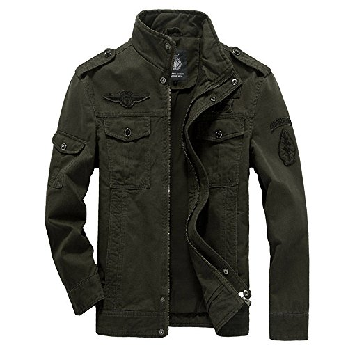 Bomber Autumn Classic Army Spring Men's Track Retro Coat Jacket Military Jacket Outdoor Force Air Jackets Green Cotton Jacket wqaAg1