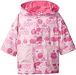 Magnificent Baby Baby-Girls Newborn Hippo Raincoat, Hippo Friends, 24 Months