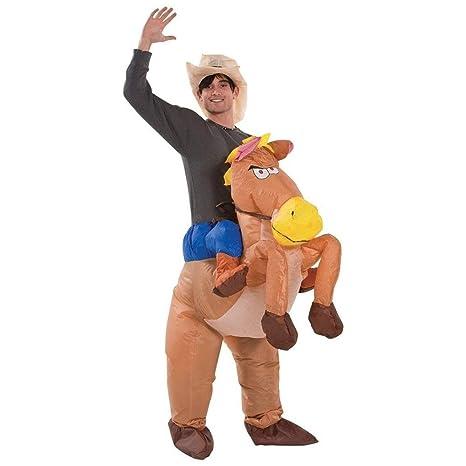 BigTree - Disfraz Hinchable para Caballo y Sombrero, Traje de ...