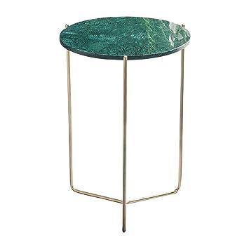 Amazon De Cl Metall Runder Tisch Edelstahl Marmor Runder