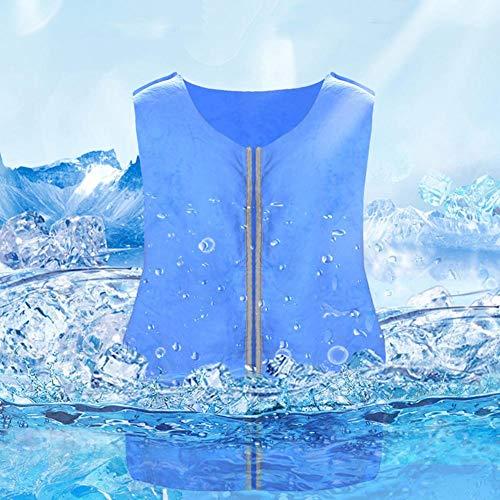 popchilli Summer Icy Cooling Vest, Outdoor Sports Cooling Ice For Adult, Vest Sunstroke Prevention Vest Sports Ice Vest…