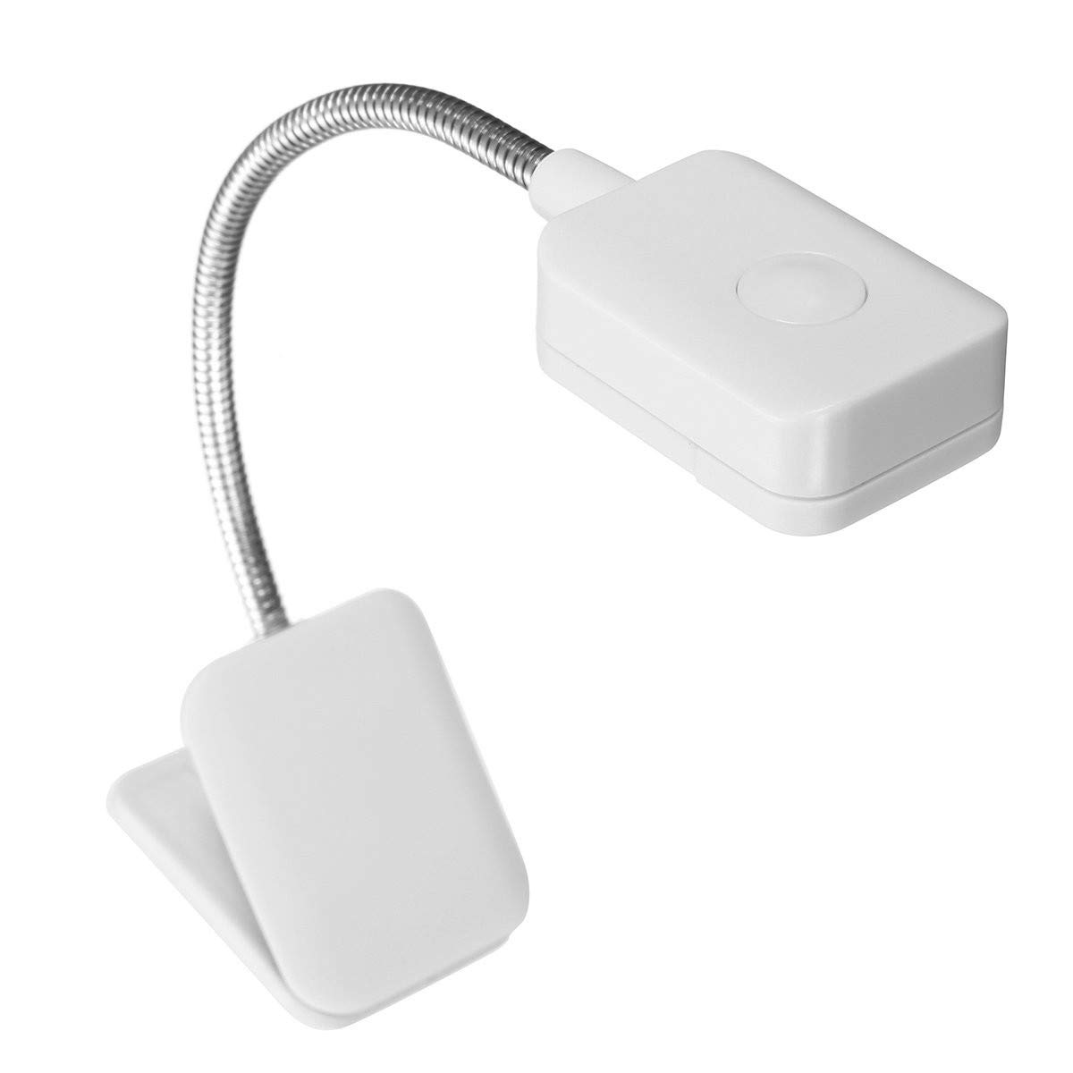 Folding LED Clip On Book Lamp e-Reader Light LED Light for Kindle Paper, TLT Retail (White)