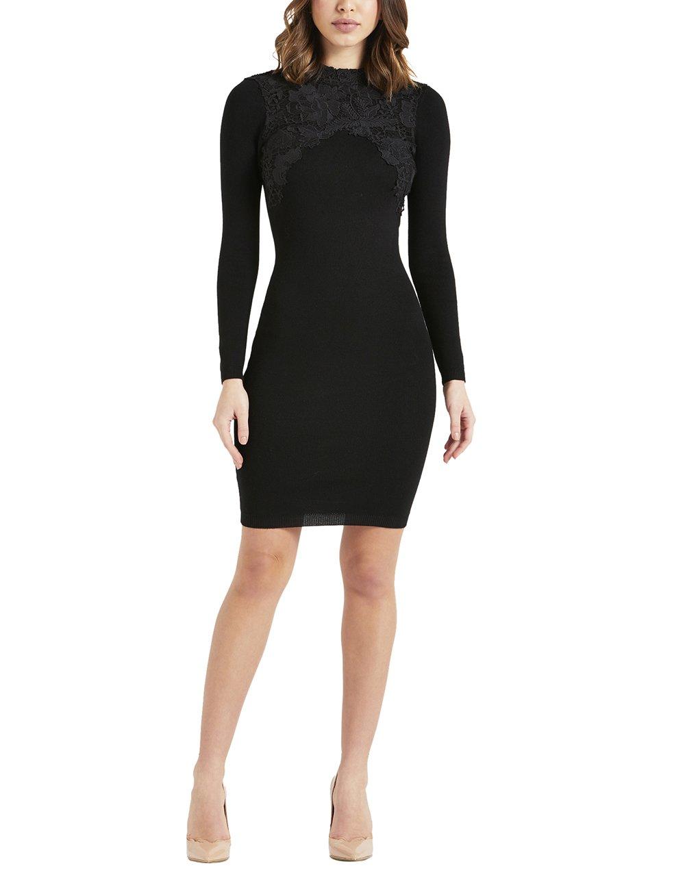 LIPSY Womens Lace Appliquà Dress Black US 10 (UK 14) by LIPSY (Image #1)