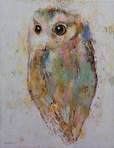 amazon com imagekind wall art print entitled owl painting by
