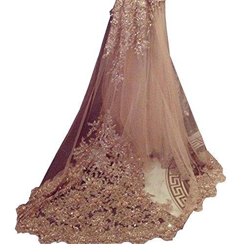 Banfvting 1T Long Wedding Veils 3M Bridal Veil with Lace Sequins Comb