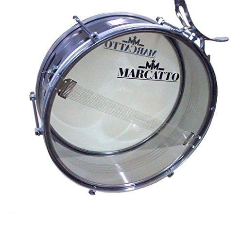 Tarol Marcatto M201 Inox + Talabarte + Baquetas