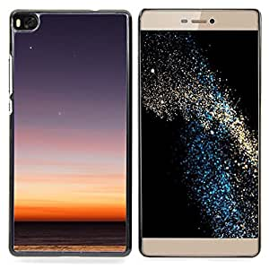 GIFT CHOICE / Teléfono Estuche protector Duro Cáscara Funda Cubierta Caso / Hard Case for Huawei Ascend P8 (Not for P8 Lite) // View Desert Night Sky Sunset Stars Blue //
