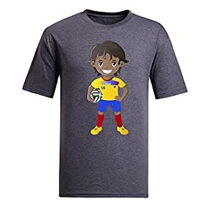 Custom Mens Cotton Short Sleeve Round Neck T-shirt,2014 Brazil FIFA World Cup UP72 gray