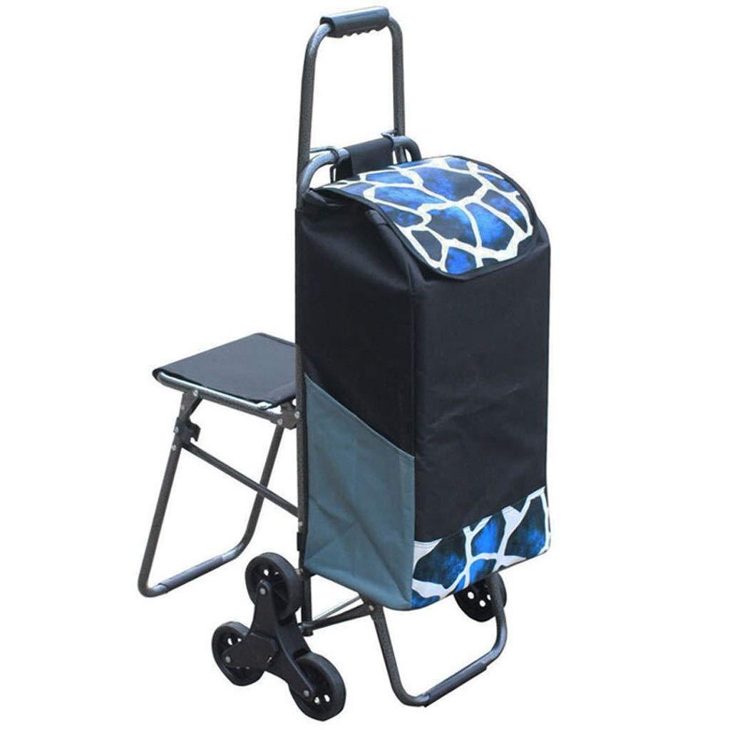 LEZDPP with Shopping Cart Shopping Cart Climbing Car Portable Folding Portable Trolley Small Trailer Supermarket Car Color : A