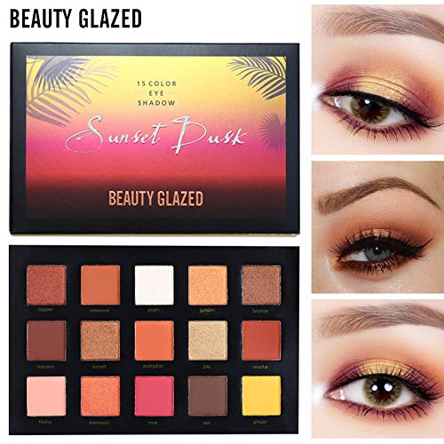 Strong-Willed Beauty Glazed 9colors Eyeshadow Palette Makeup Shimmer Matte Glitter Pigmented Eye Shadow Powder Palette Easy To Wear Shadow Kit Fine Craftsmanship Eye Shadow Beauty Essentials