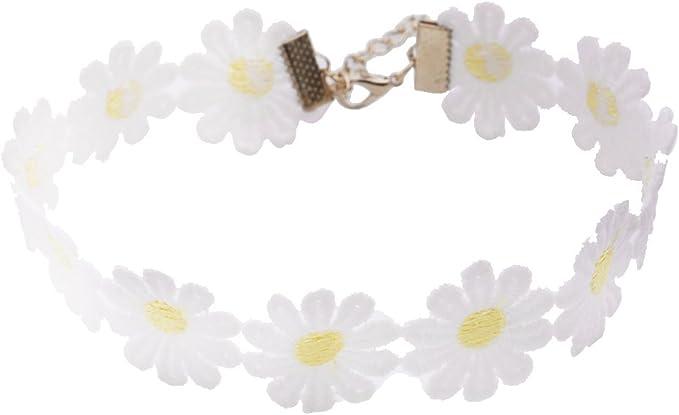 collier ras de cou fleur