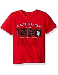 Boys' Short Sleeve Embellished Crew Neck T-Shirt