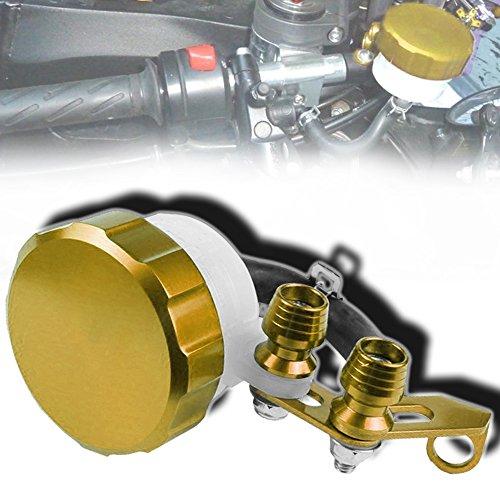 Cnc Metal Tail Rotor (CNC T6061 Aluminum Motorcycle Clutch / Brake Reservoir Fluid Tank Bottle Master Cylinder Gold)