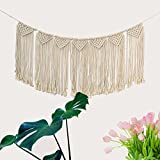 Macrame Wall Hanging Tapestry,Sundlight Fringe Garland Banner Woven Wall Decor for Living Room Bedroom Wedding Party Decoration,94cmx39cm