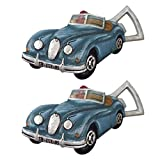 Cheap Design Toscano European Race Car Cast Iron Bottle Opener: Set of Two