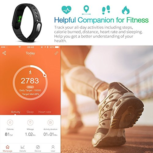 Fitness Tracker DIWUER Smart Watch with Heart Rate Monitor Calorie Counter Pedometer Sport Sleep Activity Tracker Waterproof Bracelet Wristband for iPhone Android Phone(Purple)