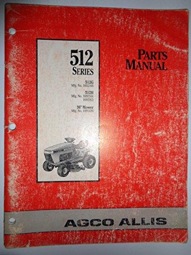 Agco Allis 512 Series 512G 512H Lawn & Garden Tractor & 36