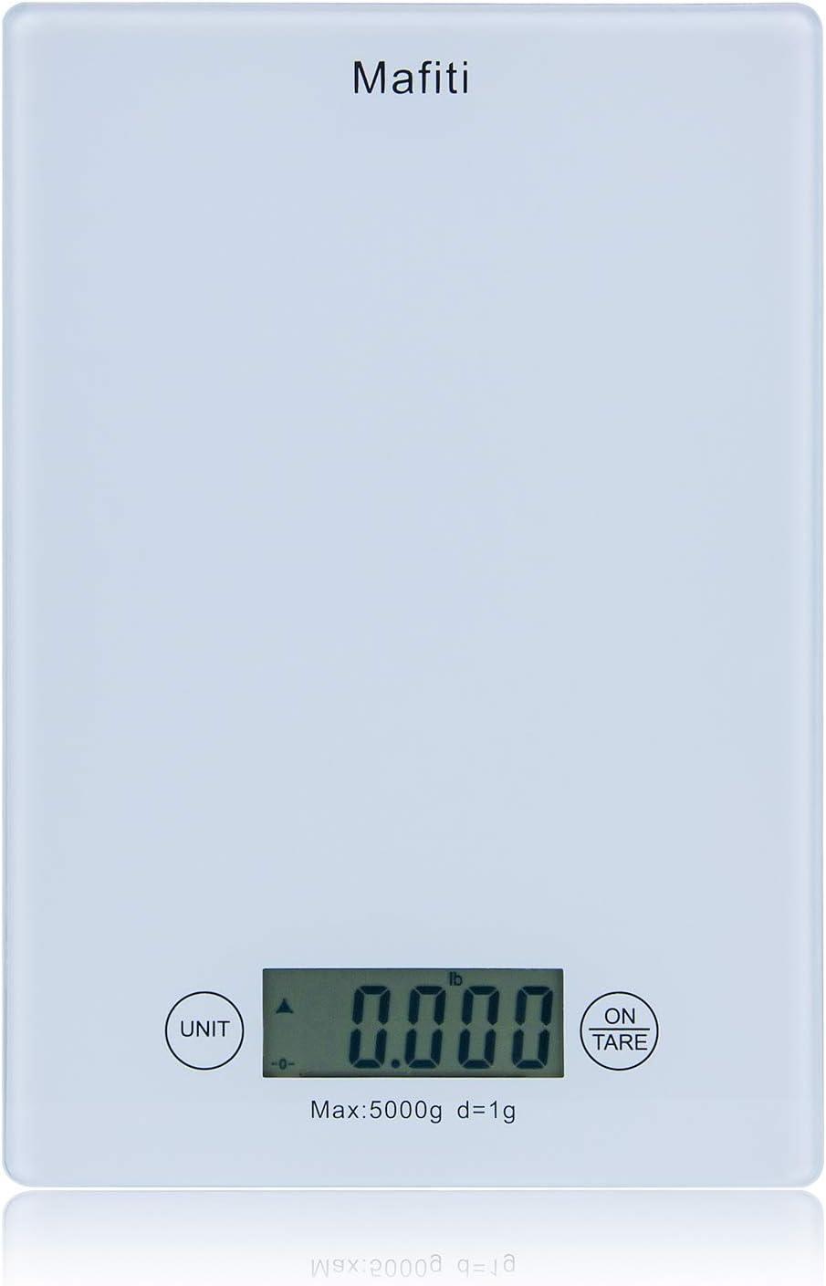 Mafiti MK100 Báscula de cocina, Báscula digital en gramos ideal para pesar alimentos de recetas: Amazon.es