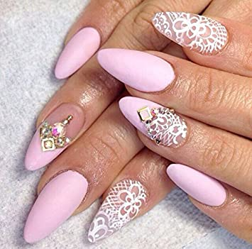 Amazon Com 8 Sets White Lace Lingerie Nail Decals Modern Bono