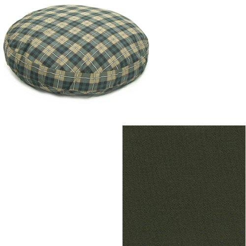 Large Snoozer 61308 Large Round Pillow Pet Bed, All Fabric, Olive
