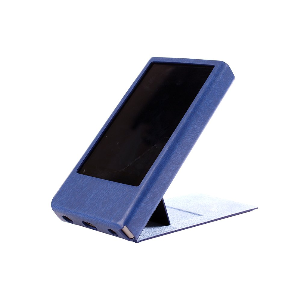 for FiiO X7 Mark II, Hand Crafted Miter Case Cover [Patented FiiO X7 Mark II 2 Stand Case] (Navy)