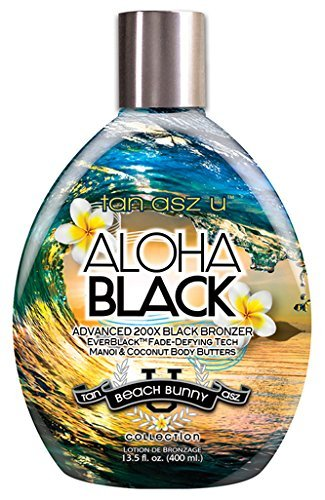 Tan Asz U ALOHA BLACK Advanced 200X Black Bronzer - 13.5 oz. by Tan Asz U by Tan Asz U